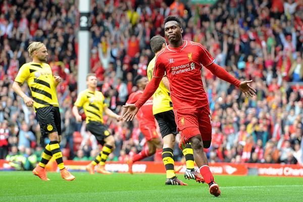 Daniel Sturridge menjadi pembuka pesta gol Liverpool saat menghadapi Borussia Dortmund